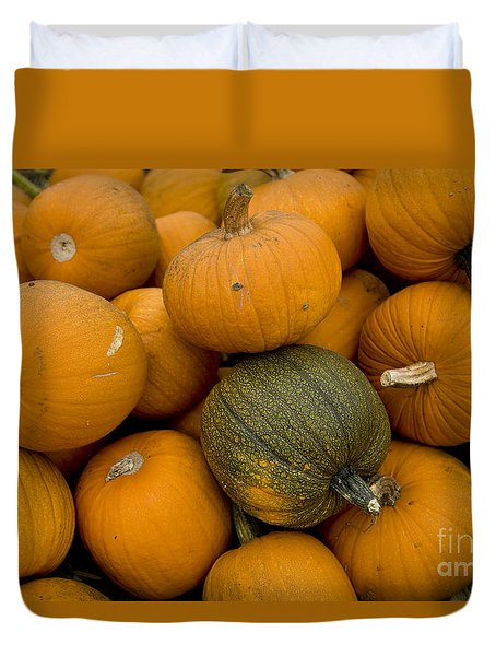 Duvet Cover featuring the photograph Odd One Out by David Millenheft