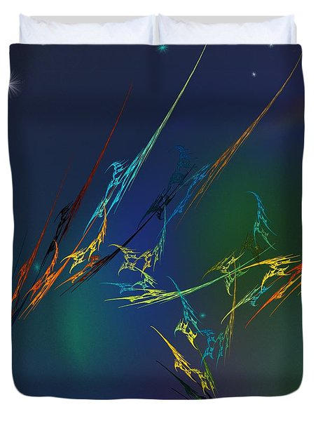 Duvet Cover featuring the digital art Ode To Joy by David Lane