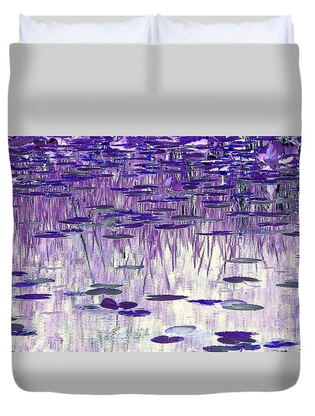 Duvet Cover featuring the photograph Ode To Monet In Purple by Chris Anderson