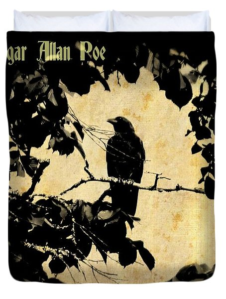 Ode To Poe Duvet Cover by John Malone