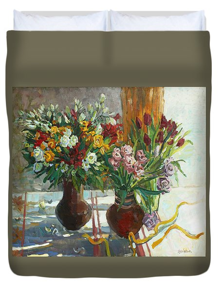 Of Bouquets Plexus Duvet Cover