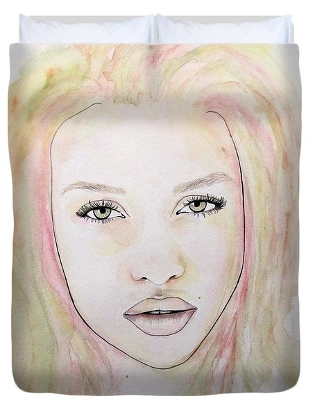 Of Colour And Beauty - Pink Duvet Cover by Malinda Prudhomme