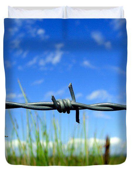 Duvet Cover featuring the photograph Off Limits by Nina Ficur Feenan