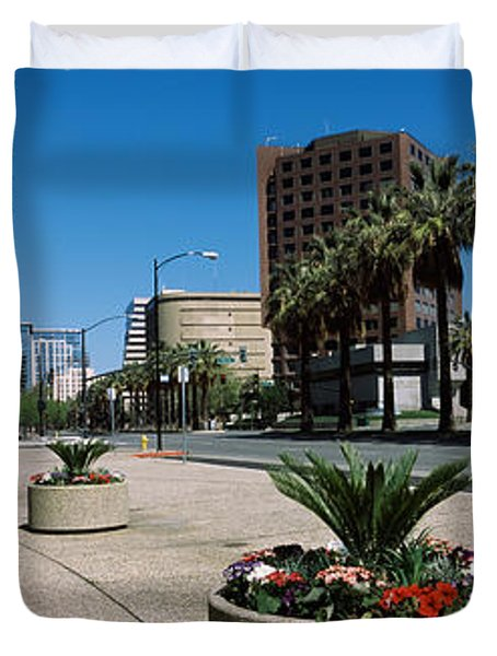 Office Buildings In A City, Downtown Duvet Cover