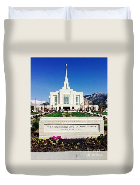 Ogden Temple 1 Duvet Cover by Richard W Linford