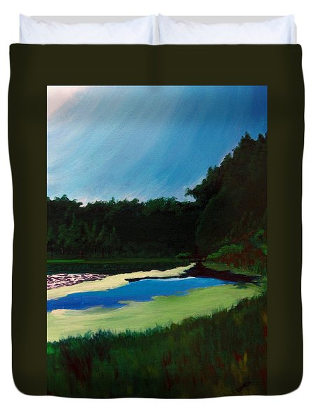 Oglebay Park - Palmer Course Duvet Cover