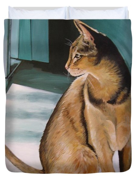 Oh Beautiful House Cat Duvet Cover