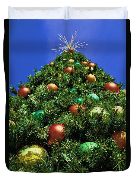 Duvet Cover featuring the photograph Oh Christmas Tree by Kathy Churchman