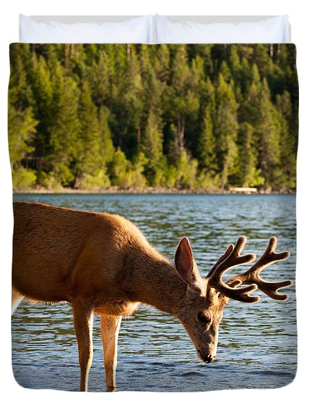 Oh Deer Is That Me Duvet Cover by Bruce Gourley
