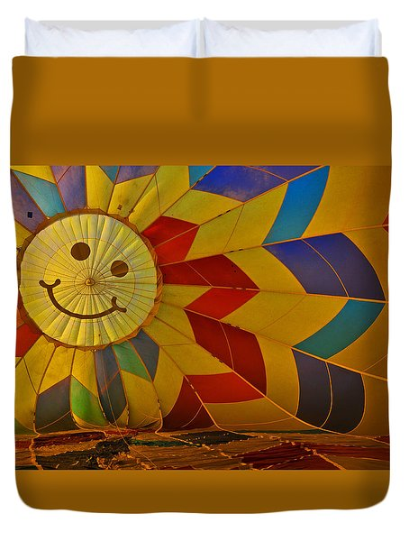 Oh Happy Day Duvet Cover by Mike Martin
