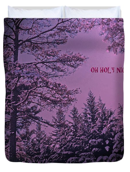 Oh Holy Night Duvet Cover by Lydia Holly
