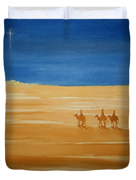 Oh Holy Night Duvet Cover by Stacy C Bottoms