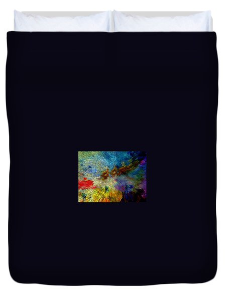 Duvet Cover featuring the painting Oh The Joys Of Santa's Toys by Lisa Kaiser