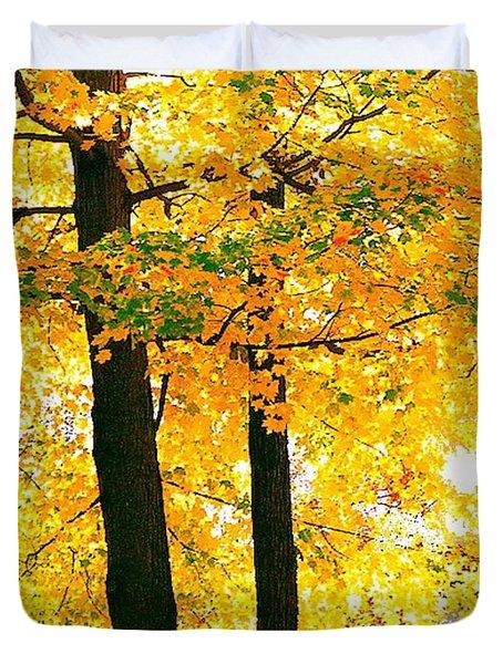 Ohio Autumn Duvet Cover