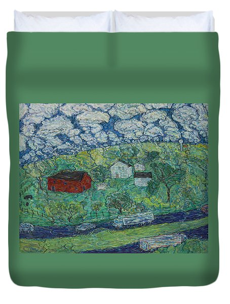 Ohio Highway Duvet Cover