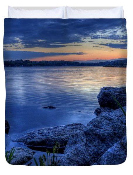 Ohio Spring Sunset Duvet Cover