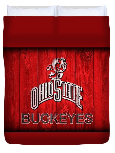 Ohio State Buckeyes Barn Door Vignette Duvet Cover
