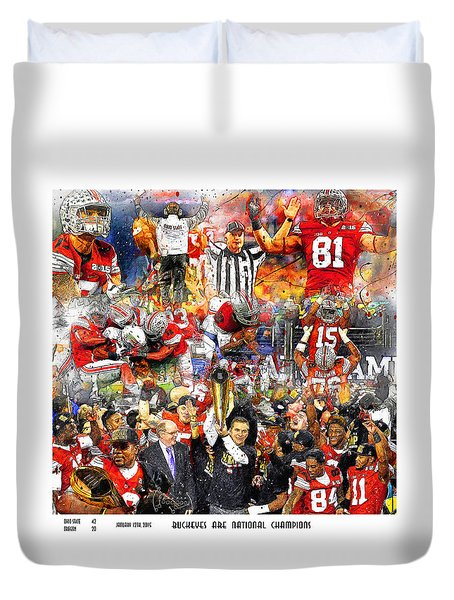 Ohio State National Champions 2015 Duvet Cover