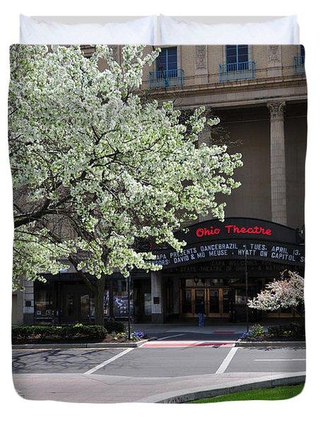 D45l42 Ohio Theatre Photo Duvet Cover