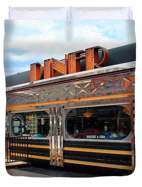 Ohio University Court Street Diner Duvet Cover