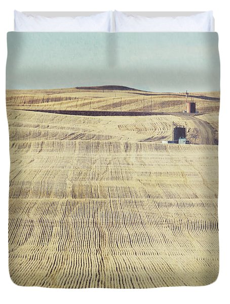Oil And Gas Activity Among Duvet Cover by Roberta Murray