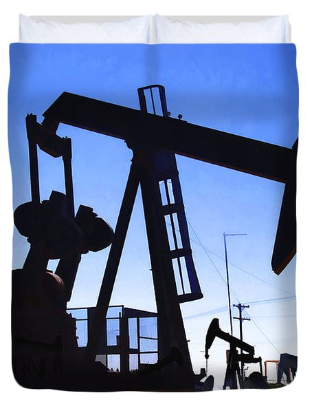 Oil Fields Duvet Cover by Chuck Staley