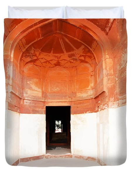 Oil Painting - Doorway In Humayun Tomb Duvet Cover