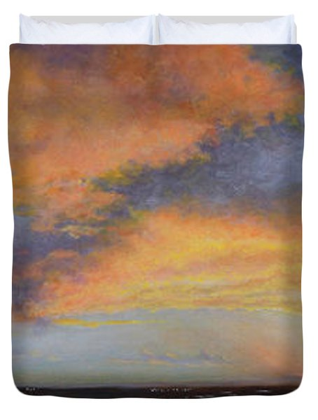 Oil Painting When The Sky Turns Color Duvet Cover