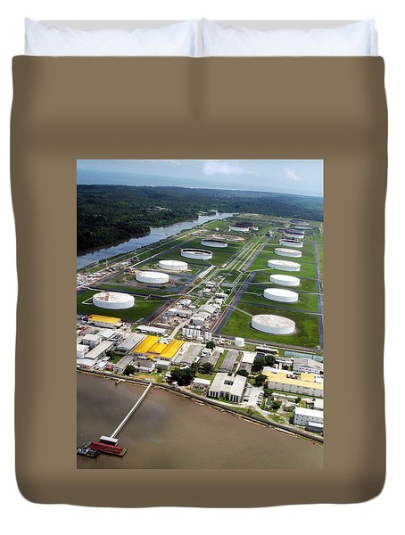 Oil Tank Farms  Duvet Cover