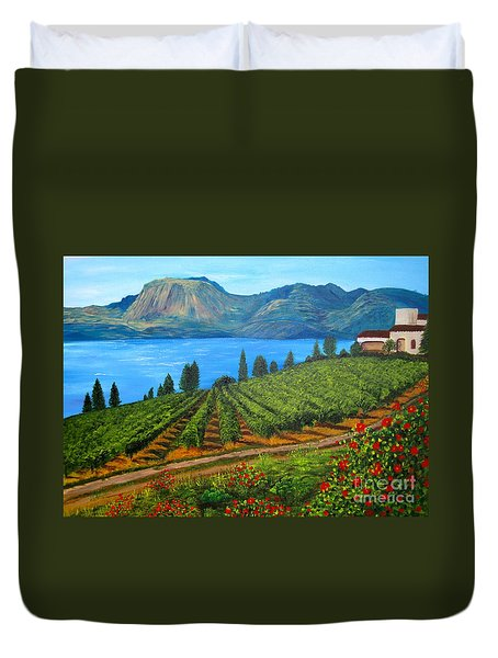 Okanagan Vineyard Duvet Cover
