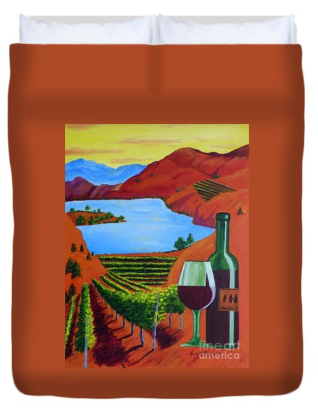 Okanagan Wine Country Duvet Cover