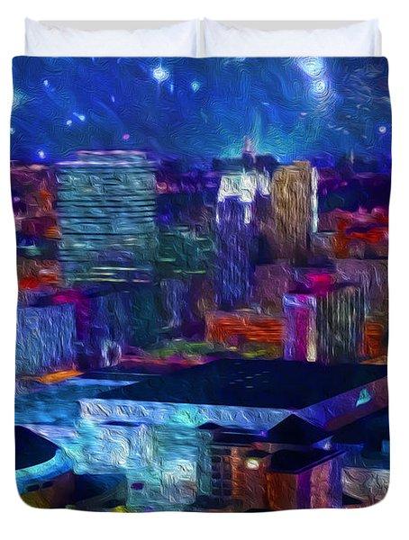 Oklahoma City Starry Night Duvet Cover