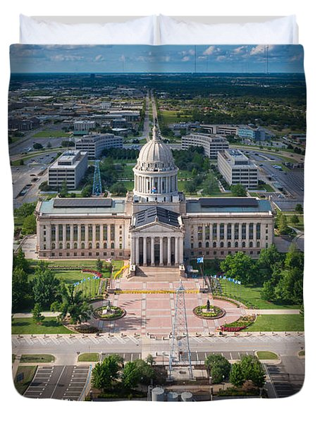 Oklahoma City State Capitol Building A Duvet Cover by Cooper Ross