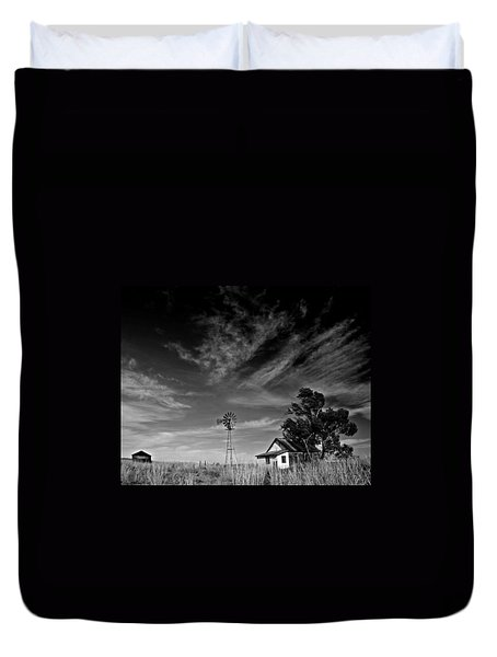 Duvet Cover featuring the photograph Oklahoma Farm by Christopher McKenzie