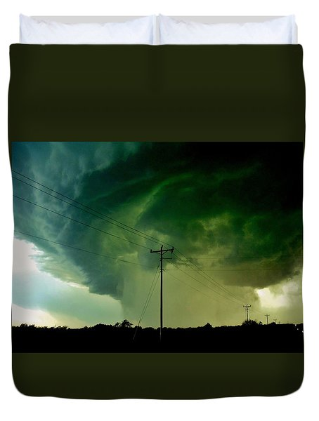 Oklahoma Mesocyclone Duvet Cover by Ed Sweeney