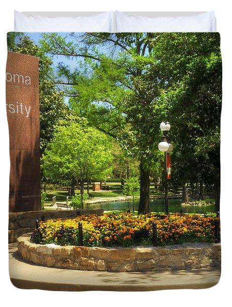 Oklahoma State University Duvet Cover