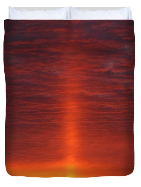 Duvet Cover featuring the photograph Oklahoma Sunrise by Christopher McKenzie