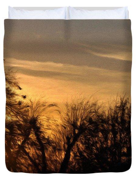 Oklahoma Sunset Duvet Cover by Jeffrey Kolker