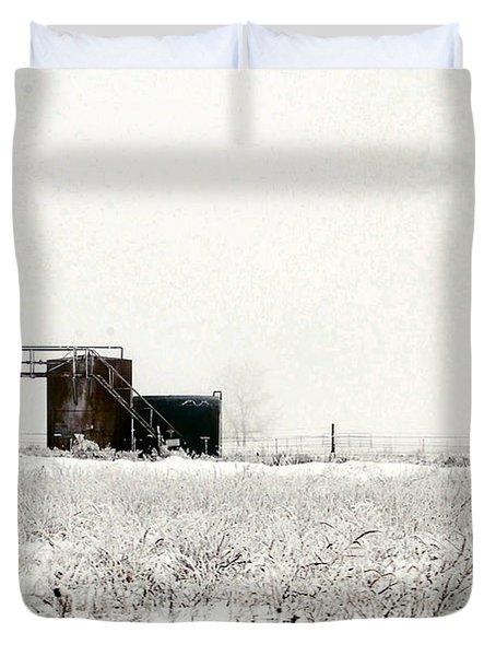 Oklahoma Wellsite Duvet Cover