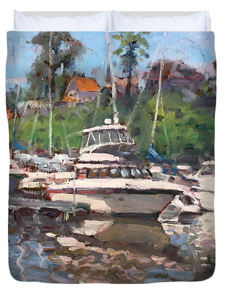Olcott Yacht Club Duvet Cover