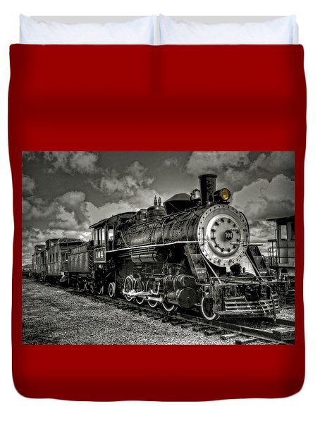 Old 104 Steam Engine Locomotive Duvet Cover
