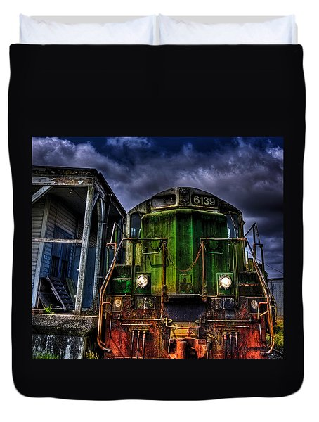 Duvet Cover featuring the photograph Old 6139 Locomotive by Thom Zehrfeld