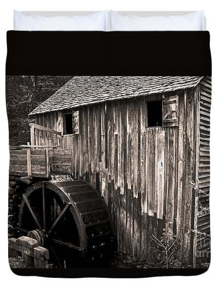 Old Appalachian Mill Duvet Cover by Paul W Faust -  Impressions of Light