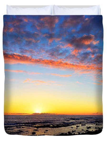 Duvet Cover featuring the photograph Old A's Panorama by David Lawson