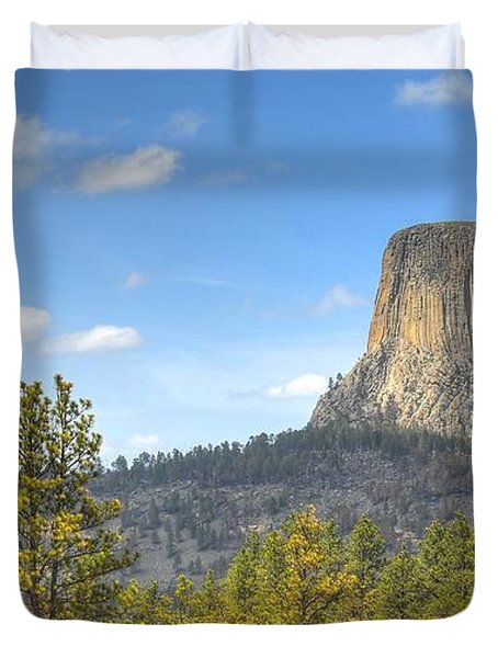 Duvet Cover featuring the photograph Old As The Hills by Anthony Wilkening