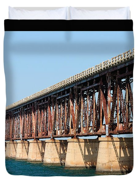 Old Bahia Honda Bridge 2 Duvet Cover