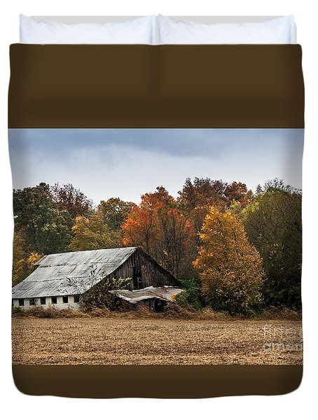 Duvet Cover featuring the photograph Old Barn by Debbie Green