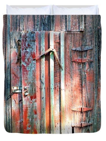 Old Barn Door 2 Duvet Cover