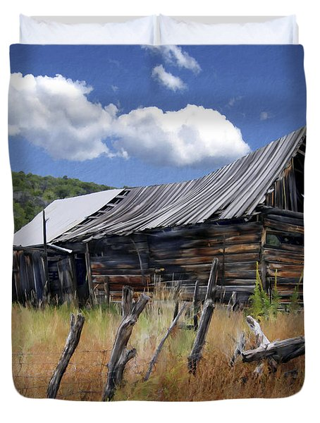 Old Barn Las Trampas New Mexico Duvet Cover