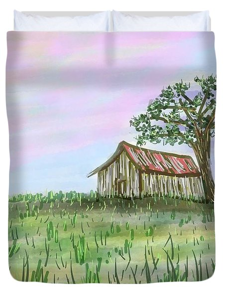 Old Barn Duvet Cover by Stacy C Bottoms